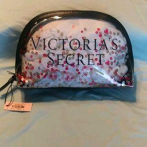 Victoria's Secret Confetti Cosmetic Bag NWT